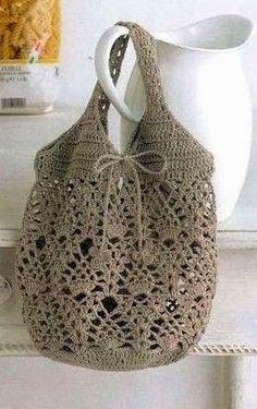 Tecendo Artes em Crochet: Bolsas de Crochê Lindas - Aqui tem Duas, vem ver!