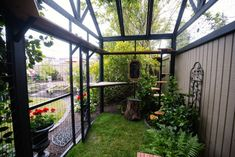 Catios & Cat Enclosures - Purrfect LoveYou can find Cat enclosure and more on our website. Outside Cat Enclosure, Diy Cat Enclosure, Cat Cages, Cat Run, Cat Playground, Outdoor Cats, Outdoor Cat Cage, Cat Condo, Space Cat