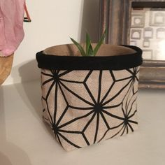 """A cute little fabric basket that can be used for storing knic-knacks around the home. Every room collects 'things' - keep your things in a funky fabric basket. These make trendy plant pots (not water proof- please use an enclosed pot within).  Baskets measure approx 3.5"""" x 3.5"""" x 4"""" Plant Pots, Potted Plants, Fabric Basket, Storage Baskets, Teacher Gifts, Wedding Flowers, Colours, Water, Room"""