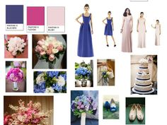 Summer wedding: Estste Blue, blush, cloudy and limeade : PANTONE WEDDING Styleboard : The Dessy Group