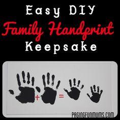Easy DIY Family Handprint Keepsake