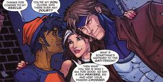 Gambit with son, Oliver and daughter Ray