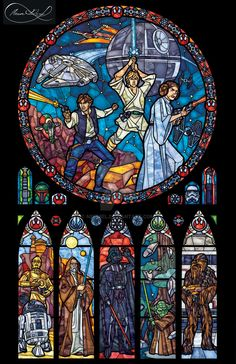 "Stars Wars New Hope digital ""stained glass"" art"
