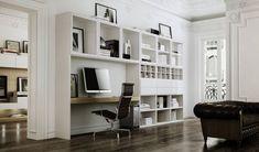 Escritorio moderno con estantería CARRE furniture - Contact Division