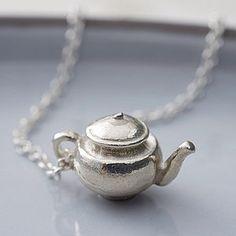 Silver Teapot Necklace