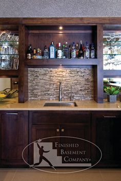 Contemporary Home Finished Basement Design Ideas, Pictures, Remodel, and Decor - page 6