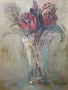 Protea magic Protea Art, Protea Flower, South African Artists, Encaustic Art, Paintings I Love, Beautiful Drawings, Abstract Flowers, Painting Inspiration, Flower Art