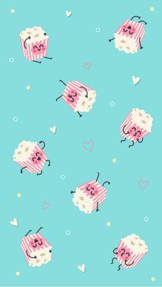 Cute Wallpaper For Phone, Summer Wallpaper, Kawaii Wallpaper, New Wallpaper, Screen Wallpaper, Pattern Wallpaper, Cute Wallpaper Backgrounds, Pretty Wallpapers, Cute Cartoon Wallpapers