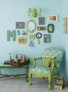 rommates, hopefully our collage over the kitchen table will look as cute as this one day