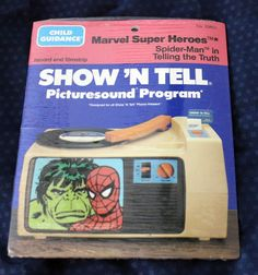 Spider-Man Telling the Truth Marvel Super Heroes Show'n Tell  Filmstrip #ChildGuidance
