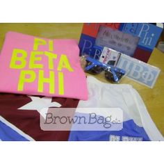 Pi Beta Phi Bid Day packages available online or in stores! Bid Day Gifts, Pi Beta Phi, Online Gifts, Sorority, Packaging, Wrapping