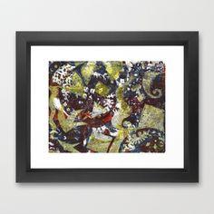 Gel Print 2 Framed Art Print by Rachel Winkelman - $32.00