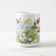 Shabby Chic Butterfly Roses & Lily of the Valley Coffee Mug #coffee #mug #mugs #muglove #coffeetime #coffeemug #gifts #style #tea