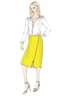V9172 | Vogue Wrap Skirt Pattern