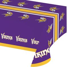 NFL 54 x 102 Plastic Tablecover All Over Print Minnesota Vikings/Case of 12 Tags: Minnesota Vikings; Tablecover; NFL Tableware; Minnesota Vikings party;Minnesota Vikings party tableware;Minnesota Vikings Tablecover; https://www.ktsupply.com/products/32786326546/NFL-54-x-102-Plastic-Tablecover-All-Over-Print-Minnesota-VikingsCase-of-12.html