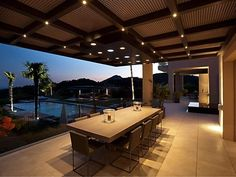 Spacious terrace that overlooks the pool and with many luxury features. From La Zagaleta, Puerto Banus, Marbella.