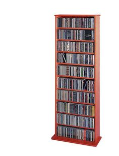 Compact Multimedia Storage Tower Shelf For Cd Dvd Solutions