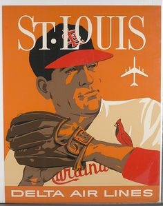 David Klein Poster: St. Louis for Delta Air Lines