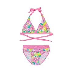 1aacbc2d936db Girls Floral Print Swimwear Infant Kids Two Piece Swimsuit Bikini Set  Outfits (11-12 Years, Orange): Amazon.co.uk: Clothing