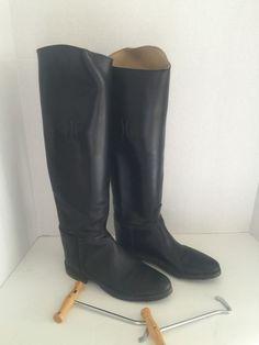 Women's Black leather DEVON-AIRE Riding Boots  Size 8 Style #960 #DevonAire #RidingEquestrian