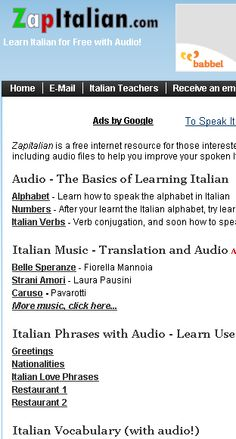 Italian  Phrases with Audio - Learn Useful Italian Phrases for Everyday Situations     http://www.zapitalian.com/
