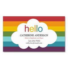 Over The Rainbow Mommy Card / Calling Card Business Card Templates