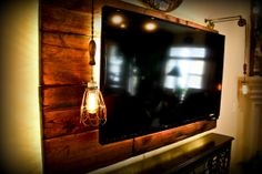 T.V. wall unit. This is the only way I would hang a T.V. on my wall! Great space saver.