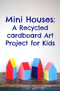 Recycled cardboard house art project for kids • Artchoo.com