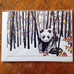 Endangered Panda // Greeting Card by SandraDieckmann on Etsy, £2.50