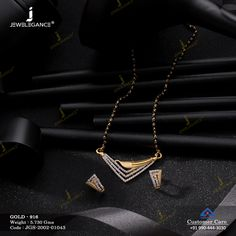 Gemstone Mangalsutra jewellery for Women by jewelegance. ✔ Certified Hallmark Premium Gold Jewellery At Best Price Pink Diamond Jewelry, Gold Jewelry Simple, Gemstone Jewelry, Beaded Jewelry, Gold Mangalsutra Designs, Gold Ring Designs, Fashion Jewelry, Women Jewelry, Jewelry Design