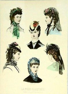 La Mode Illustree Hats, 1870