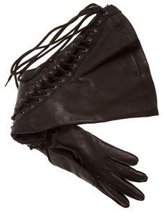 ANN DEMEULEMEESTER - lace-up glove 5