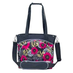 Mode Tote Diaper Bag-Midnight Dahlia by JJ Cole Collections | Designer Diaper Bags    available at www.duematernity.com