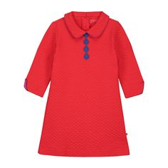 Tunics & Dresses : dress collar bright red