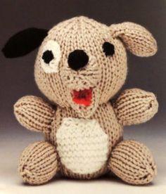 perro amigurumi tejido a dos agujas