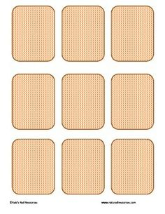 free memory card template the moffat girls pinterest students