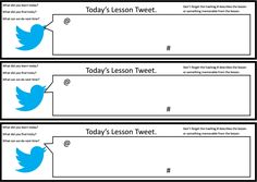 https://social-media-strategy-template.blogspot.com/ Tweet pupil self-assessment - A simple student self-assessment sheet in the style of a tweet to help students reflect on the lesson and their learning.