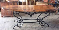 Oval Table, Dining Table, Iron Furniture, Iron Table, Woodworking Bed, Diy Furniture Projects, Chair Design, House Design, Tables
