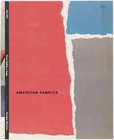 "Magazine Cover by Alvin Lustig, ""American Fabrics"", Fall 1951"