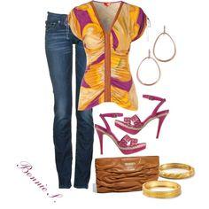 orange & purple, created by bonnaroosky on Polyvore