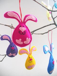 Felt Easter decorations Easter ornaments von bboutiquebeauties