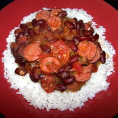 Easy Red Beans and Rice Recipe from Allrecipes.com.
