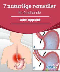 7 naturlige remedier for å behandle sure oppstøt  Ved en viss alder vil den indre esophageal #sphincter, som fungerer som en #lukkemekanisme mellom #esophagusen og magen, miste sin #fasthet og dette kan føre til sure oppstøt.