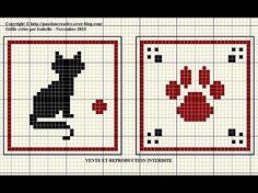 Cat paw Biscornu Cross Stitch, Mini Cross Stitch, Cross Stitch Animals, Cross Stitch Embroidery, Cross Stitch Designs, Cross Stitch Patterns, Loom Patterns, Cross Stitch Boards, Crochet Cross