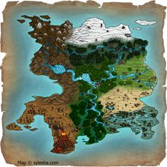 Sylestia World Map - Commission by Ilenora