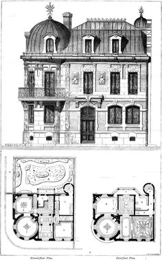 1860 - House of an Architect, Cite Malesherbes, Paris - Archiseek.com
