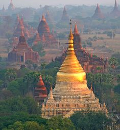 Temples in Bagan, #Myanmar - Travel Pinspiration: http://www.ytravelblog.com/travel-pinspiration-2/