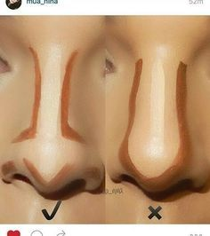 How to Contour Your Nose Right? Makeup Tricks Every Girl Should Know – Popcane How to Contour Your Nose Right? Makeup Tricks Every Girl Should Know How to Contour Your Nose Right? Makeup Tricks Every Girl Should Know – Popcane Facial Contouring Makeup, Face Contouring Tutorial, Highlight Contour Makeup, Contouring And Highlighting, Skin Makeup, Drugstore Contouring, Makeup Brushes, Cosmetic Brushes, Contour Makeup Products