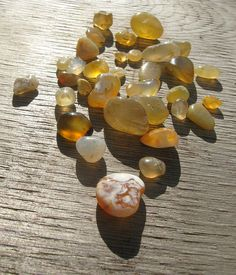 beach agates in the early sun by mimpy, via Flickr