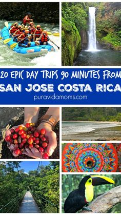 Amazing San Jose Costa Rica Day Trips- 90 Minute Drive Or Less! Family Vacation Destinations, Vacation Trips, Day Trips, Travel Destinations, Travel Tips, Costa Rica With Kids, San Jose Costa Rica, Tamarindo, Viajes